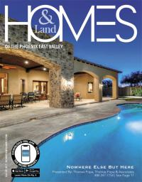 Homes & Land of The Phoenix East Valley Magazine Cover