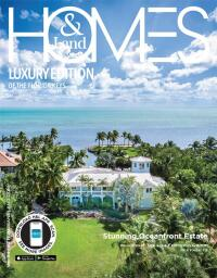 Homes & Land Luxury Edition of the Florida Keys Magazine Cover